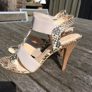 Marc Fisher Stiletto Snake Skin Sandals